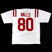 """Wesley Walls Signed Ole Miss Rebels White Custom Jersey With """"CHOF 2014"""" Inscription-23718"""