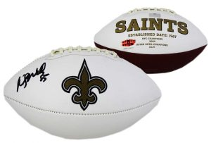Wesley Walls Signed New Orleans Saints Embroidered NFL Football-0