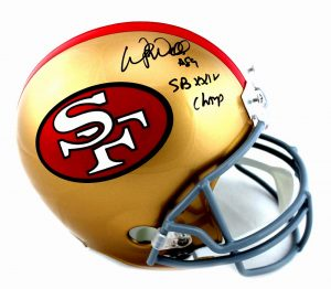 "Wesley Walls Signed San Francisco 49ers Riddell Throwback Full Size Helmet With ""SB XXIV Champ"" Inscription-0"