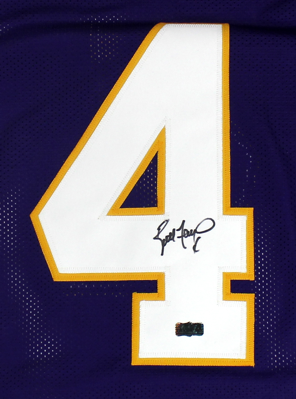 watch d6610 7f98d Brett Favre Signed Minnesota Vikings Purple Custom Jersey