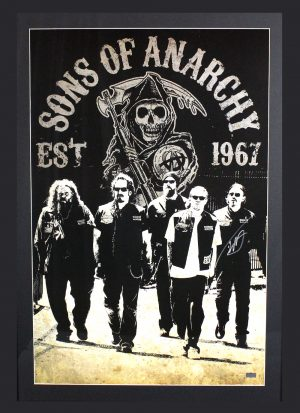 Tommy Flanagan Signed Sons Of Anarchy Framed Poster With 5 Characters-0