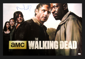 Norman Reedus Signed The Walking Dead Season Six Framed Full Size Poster-0