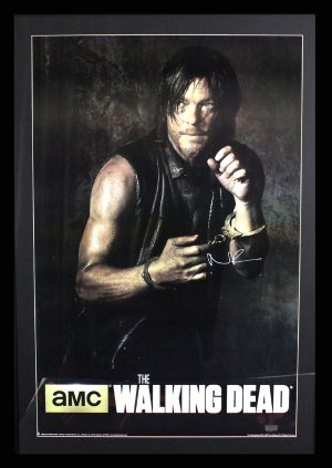 Norman Reedus Signed The Walking Dead Season Five Framed Full Size Poster -0