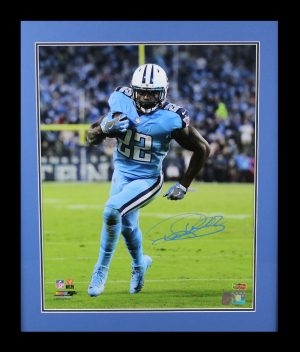 Derrick Henry Signed Tennessee Titans Framed 16x20 NFL Color Photo - 1st NFL Touchdown-0
