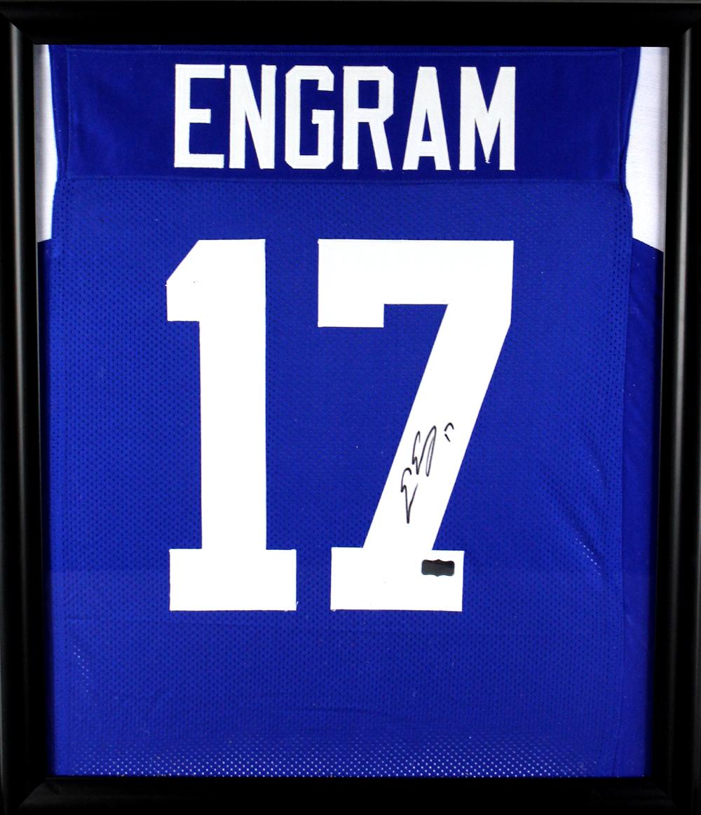 official photos 68326 eb3d1 Evan Engram Signed Ole Miss Rebels Framed Blue Custom Jersey