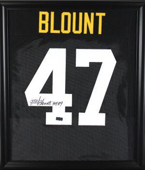 "Mel Blount Signed Pittsburgh Steelers Black Framed Custom Jersey With ""HOF 89"" Inscription-0"