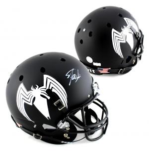 Stan Lee Signed Custom Venom Logo Schutt Full Size Helmet-0