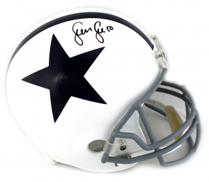 Sean Lee Signed NFL Dallas Cowboys Throwback Thanksgiving Full Size Helmet-0