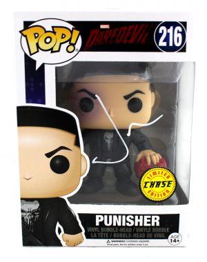 Jon Bernthal Signed Funko Pop! Marvel Daredevil Punisher #216 Toy - Chase Variant -0