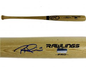 Rhys Hoskins Signed Philadelphia Phillies Official Rawlings Blonde MLB Bat-0