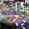 """Brett Favre Signed Minnesota Vikings Riddell Full Size NFL Helmet With """"HOF 16"""" Inscription-23835"""