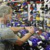 """Brett Favre Signed Minnesota Vikings Riddell Authentic Full Size NFL Helmet With """"HOF 16"""" Inscription-23833"""