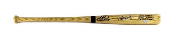 Andres Galarraga Signed MLB Black Rawlings Engraved Big Stick Bat - Atlanta Braves-25286