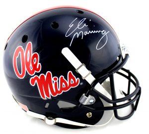 Eli Manning Signed Ole Miss Rebels Schutt Full Size NCAA Helmet-0