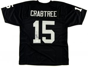 Michael Crabtree Signed Oakland Raiders Custom Black Jersey -0