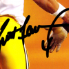 Brett Favre Signed Green Bay Packers 8x10 NFL Photo - Black Ink With Urlacher-23979