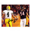 Brett Favre Signed Green Bay Packers 8x10 NFL Photo - Black Ink With Urlacher-23980