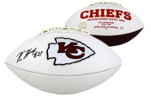 Kareem Hunt Autographed/Signed Embroidered Kansas City Chiefs Football-0