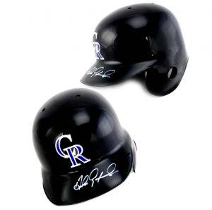 Andres Galarraga Signed Colorado Rockies Rawlings Batting Helmet-0