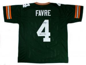 "Brett Favre Signed Green Bay Packers Custom Jersey With ""SB XXXI Champ"" Inscription-0"