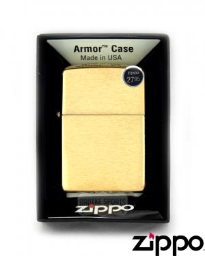 Zippo Armor Brushed Brass Lighter-0