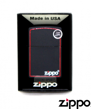 Zippo Classic Black and Red Lighter-0