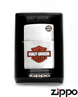 Zippo Harley-Davidson® Brushed Chrome Finish Logo Lighter-0
