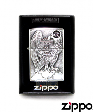 "Zippo Harley-Davidson® ""Made in the USA"" Eagle Lighter-0"