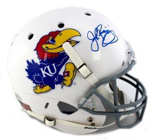 John Riggins Signed Kansas Jayhawks Full Size Schutt Helmet-0
