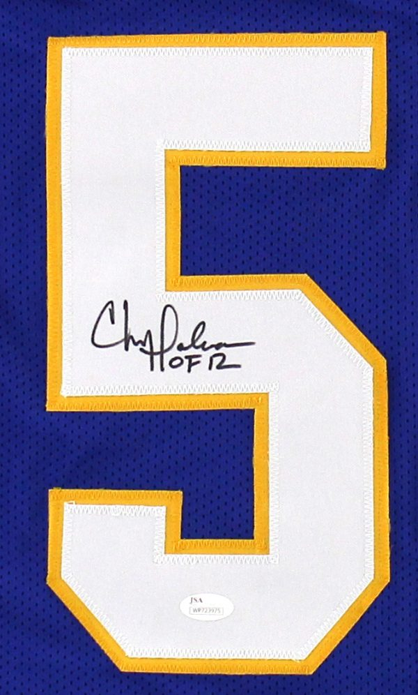 """Chris Doleman Signed Pittsburgh Panthers Custom Blue Jersey with """"HOF 12"""" Inscription-25407"""
