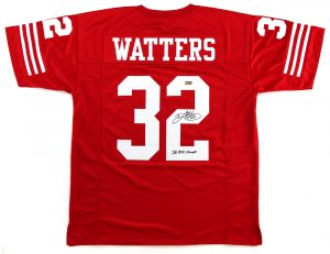 "Ricky Watters Signed San Francisco 49ers Red Custom Jersey With ""SB XXIX Champs"" Inscription -0"