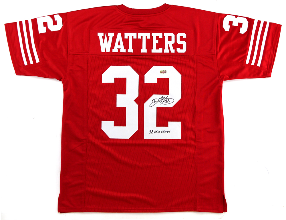 best service da82c c1d08 Ricky Watters Signed San Francisco 49ers Red Custom Jersey With