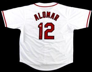 Roberto Alomar Signed Cleveland Indians Custom White Jersey-0