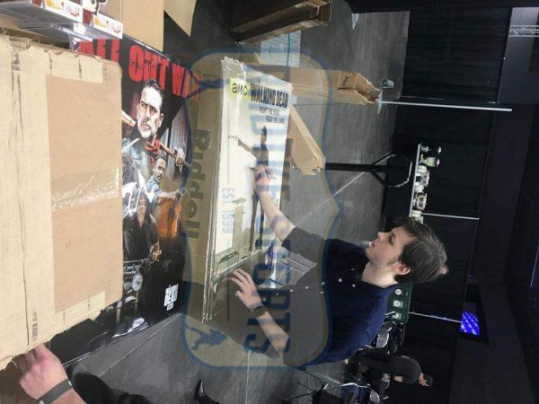 Chandler Riggs Signed The Walking Dead Full Size Framed Poster - Season 3-32640