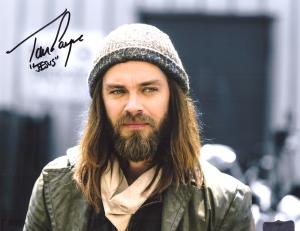 "Tom Payne Signed The Walking Dead Spotlight 8x10 Photo with ""Jesus"" Inscription-0"