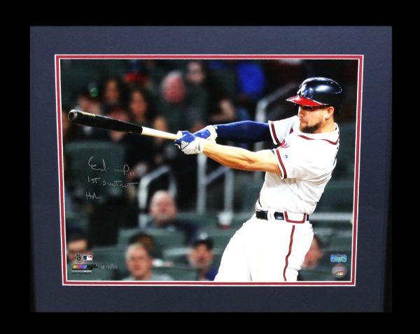 "Ender Inciarte Signed Atlanta Braves Framed 16x20 MLB Photo With ""1st SunTrust Home Run"" Inscription -0"