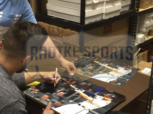 "Ender Inciarte Signed Atlanta Braves Framed 16x20 MLB Photo With ""1st SunTrust Home Run"" Inscription -26608"