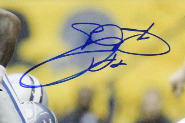 Emmitt Smith Signed Dallas Cowboys Framed 16x20 Photo - Rushing Record Shot-26713