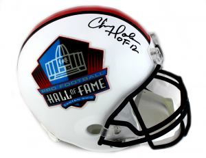 "Chris Doleman Signed Riddell Pro Football HOF Full Size Helmet With ""HOF 12"" Inscription-0"