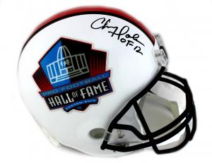 "Chris Doleman Signed Riddell Pro Football HOF Full Size Helmet With ""HOF 12"" Inscription-0"