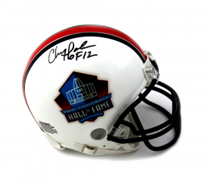 "Chris Doleman Signed Pro Football HOF Riddell NFL Mini Helmet With ""HOF 12"" Inscription-0"