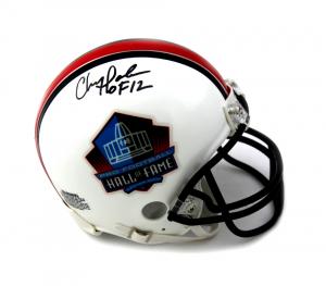 "Chris Doleman Signed Pro Football HOF Riddell NFL Mini Helmet With ""HOF 12"" Inscription-0"