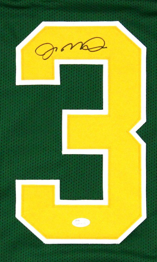 Joe Montana Signed Notre Dame Fighting Irish Green Custom Jersey-25875
