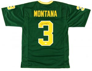 Joe Montana Signed Notre Dame Fighting Irish Green Custom Jersey-0