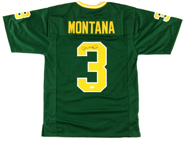 Joe Montana Signed Notre Dame Fighting Irish Green Custom Jersey-0