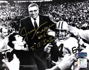 """Jerry Kramer Signed Green Bay Packers 8x10 NFL Photo With """"S.B. I & II"""" Inscription -0"""