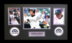 Andres Galarraga Signed Colorado Rockies Framed 8x10 Photo - Close Up-0