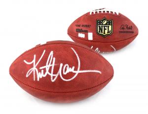 Kurt Warner Signed Los Angeles Rams Authentic Wilson NFL Football-0