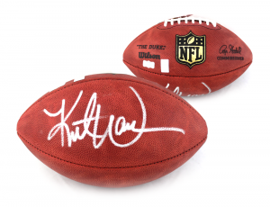 Kurt Warner Signed St. Louis Rams Authentic Wilson NFL Football-0