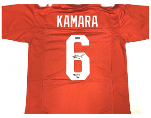 "Alvin Kamara Signed Tennessee Volunteers Orange Custom Jersey with ""Rocky Top"" Inscription-0"